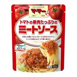 日清フーズ マ・マー パスタソース トマトの果肉たっぷりのミートソース