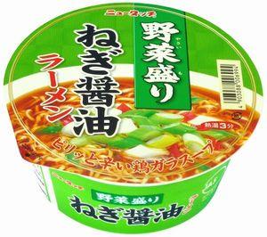 ニュータッチ 野菜盛りねぎ醤油ラーメン
